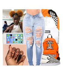"""""""'let me glow you up sis☄️'"""" by daeethakidd ❤ liked on Polyvore featuring GET LOST, Moschino and Vans"""