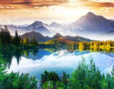 Mountain Lake puzzle in Great Sightings jigsaw puzzles on TheJigsawPuzzles.com. Play full screen, enjoy Puzzle of the Day and thousands more.