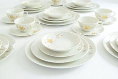 Parisienne by Royal Jackson China . 82 Piece Set by allthingswhite