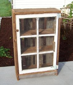 DIY Ideas for Old Window cabinets | Old window pane idea... Cabinet | DIY Projects I Love