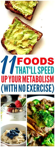 These 11 foods that speed up your metabolism are THE BEST! I'm so glad I found these AMAZING tips! Now I have some great food to boost my metabolism! Definitely pinning