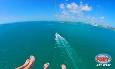 Parasailing above the water in Key West #keywest #parasailing #furykeywest