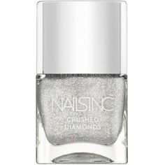 Nails inc Winter Mews Glitter Effect Nail Polish/0.47 oz. ($15) ❤ liked on Polyvore featuring beauty products, nail care, nail polish, nails, makeup, apparel & accessories, no color, nails inc nail polish and nails inc.