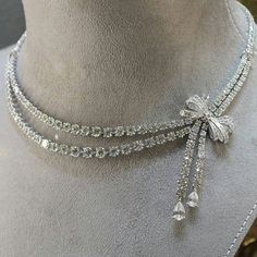 Sterling Silver Jewelry 925 Jewelry 925 Sterling Silver Round Pear Baguette Bow Style Collar Necklace Cz New Tennis Necklace, Bow Necklace, Fashion Necklace, Nameplate Necklace, Sapphire Necklace, Black Necklace, Fashion Jewelry Necklaces, Layered Necklace