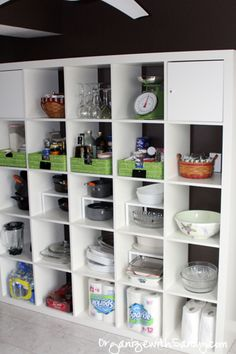 Increase Space In Your #Kitchen With Ikea Expedit Shelves // #organize