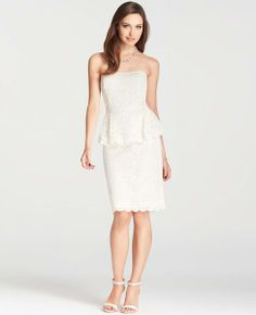 this would make a sweet wedding dress if you are looking for a short dress - and it's only $268