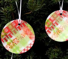 Super Simple Washi Tape Ornaments   These DIY ornaments are fast, easy, and gorgeous!