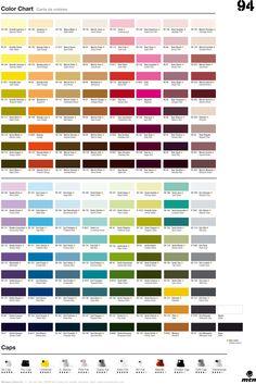 Montana 94 color chart