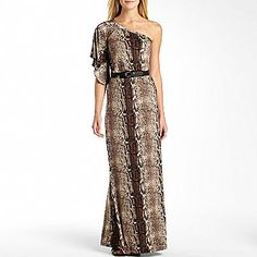 Allen B.® One Shoulder Belted Maxi Dress - jcpenney