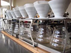Hario V60 Pour Over Rig at Mad Cap Coffee.