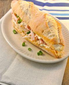 Broodje kip met tauge en bosui - Lekker en Simpel !
