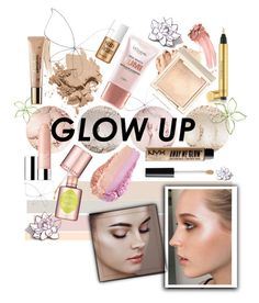 """""""Glowing"""" by charisloves ❤ liked on Polyvore featuring beauty, Benefit, Bobbi Brown Cosmetics, L'Oréal Paris, Yves Saint Laurent, NYX, tarte, Clinique, Elizabeth Arden and PINTRILL"""