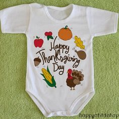 1st Thanksgiving outfit Babys Thanksgiving onesie Thanksgiving bodysuit Thanksgiving body Turkey onesie Turkey outfit Turkey bodysuit by happychildshop on Etsy