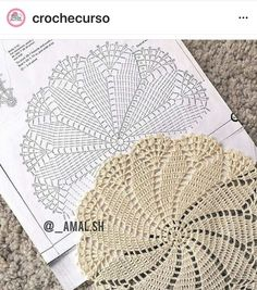 Flower crochet doilies, Crochet placemats, Cotton beige doilies, Thanksgiving gift idea - Her Crochet Filet Crochet, Mandala Au Crochet, Crochet Circles, Crochet Doily Patterns, Crochet Diagram, Thread Crochet, Crochet Stitches, Crochet Ideas, Crochet World