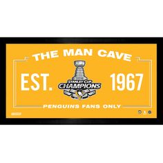 2016 STANLEY CUP CHAMPION PITTSBURGH PENGUINS 10X20 MAN CAVE CHAMPS LOGO - Purchase here: http://stnr.co/1Ol7Xwd