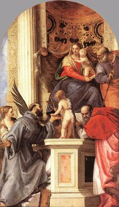 Madonna Enthroned with Saints - Paolo Veronese