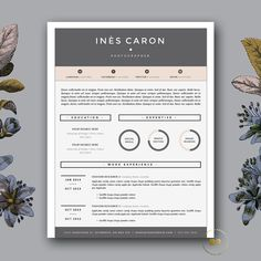 3 page Resume Template & FREE Cover Letter | Fashion Resume Design ...