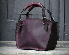 8ad01e75214df Leather Shoulder Bag with Clutch Set handmade handbag ladybuq purse brick  and brown office bag Laptop bag with adjustable long stripe