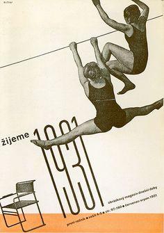 Zijeme |  Ladislav Sutnar |  Zijeme (We Live) was a Czech arts journal from the 1930s