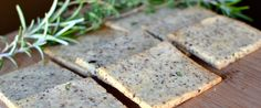 Rosemary and Thyme crackers made from almond flour, ground flax seed, herbs, olive oil, salt, pepper, egg, water. Done in 25 minutes.