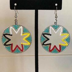 Beaded Earrings Patterns, Seed Bead Earrings, Beading Patterns, Beaded Jewelry, Boho Earrings, Great Gifts For Girlfriend, Beadwork Designs, Nativity Crafts, Native Beadwork