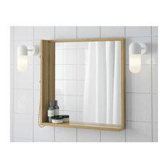 RÅGRUND Spegel, bambu bambu 53x50 cm