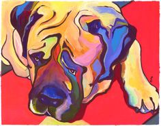 Diesel: Composition and dynamic color make this English Mastiff a sure winner. Customers love it!