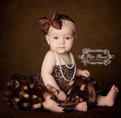 Satin Ribbon Edged PRINCESS Tutu- (Newborn - 3 months)- Chocolate Brown - Wedding - Photography Prop - Spring Easter. $25.00, via Etsy.