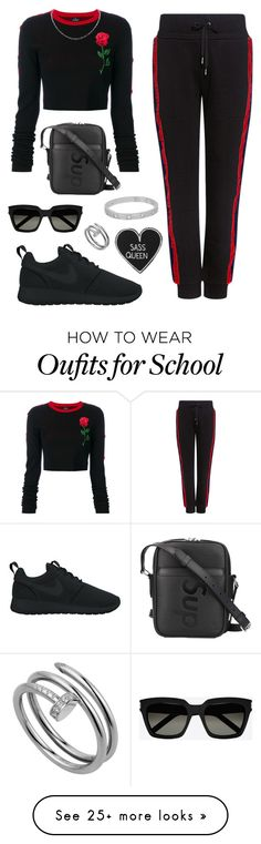 """""""Killla"""" by sxphia99 on Polyvore featuring County Of Milan, Public School, NIKE, Louis Vuitton, Cartier and Yves Saint Laurent"""