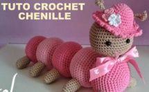 TUTO chenille au crochet Crochet Bear Patterns, Doll Patterns Free, Amigurumi Patterns, Crochet Motif, Crochet Animals, Diy Crochet, Knitted Dolls, Crochet Dolls, Crochet Hats