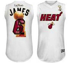 e67b4e408b2 NBA jerseys Miami Heat 6 James white champions jerseys wholesale Lebron James  Nba Finals