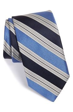 Men's John W. Nordstrom 'Coples' Stripe Silk Tie