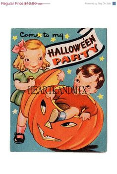 Halloween Party Invitation Digital Image by HEARTLANDMIX on Etsy, $3.00