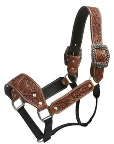 Argentina-Cow-Leather-Floral-Tooled-Belt-Style-Western-Halter-NEW-HORSE-TACK What a pretty cow halter