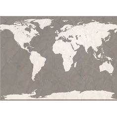 """Swag Paper World Atlas Map Wall Mural Size: 101.16"""" H x 132"""" W, Color: Putty"""
