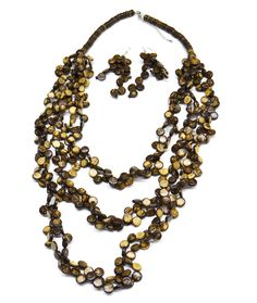 Kokua Nut Necklace & Earrings. Love the earthy color and material