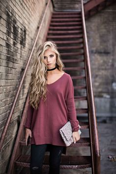 fall style, womens fashion, fashion, style, leopard clutch, sweater weather, ootd, hudson jeans, blonde hair, wavy hair