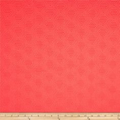 HGTV HOME Hex Appeal Solid Jacquard Guava from @fabricdotcom  Refresh and modernize an old piece of furniture and update it with a new look. This heavyweight solid jacquard fabric is appropriate for some window treatments, accent pillows, upholstering furniture, headboards and ottomans. This fabric has 42,000 double rubs.