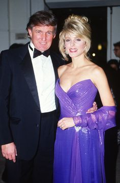 Donald Trump & Marla Maples at the Golden Globe Awards