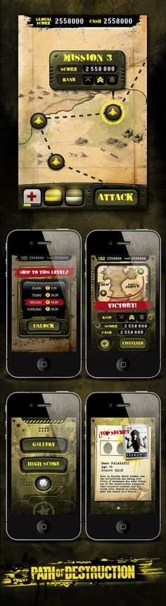 PoD! - iPhone Game by Gabriel Mourelle, via Behance  #iphone #app #game #interface