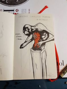 For Inktober Ohio-based artist Shawn Coss decided to illustrate various mental illnesses and disorders in a series of gloomy drawings. Creepy Drawings, Dark Drawings, Creepy Art, Pencil Drawings, Image Clipart, Art Clipart, Arte Horror, Horror Art, Expression Face