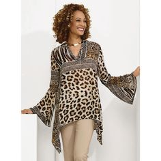 947c3322c6954 Animal Print Tunic - Especially Yours Spring Fashion Casual
