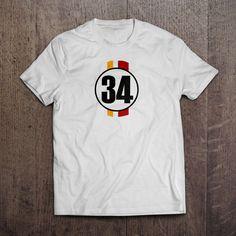 Beyaz üzerine dijital baskı 34 T-Shirtleri 29,99TL