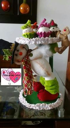 Milagro Bustillo's media content and analytics Candy Decorations, Christmas Decorations, Christmas Snowman, Xmas, Snowman Crafts, Winter Time, Christmas Projects, Snow Globes, Diy And Crafts