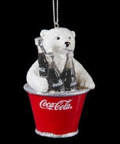 Look at this #zulilyfind! Coca-Cola Bear Cub in Bucket Ornament by Coca-Cola  #zulilyfinds