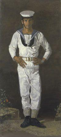 """Sailor in the sun Paris"", by Yannis Tsarouchis. Oil on cloth, x 104 cm Paul Cadmus, Kai, Alberto Giacometti, Greek Art, Art Database, Drawing Practice, Male Figure, Gay Art, Illustrations"