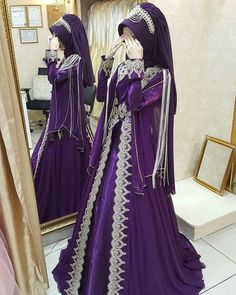 Latest Bridal Dresses, Muslim Wedding Dresses, Muslim Dress, Stylish Dress Designs, Stylish Dresses, Hajib Fashion, Fashion Outfits, Beautiful Muslim Women, The Dress