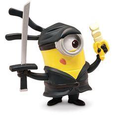"Despicable Me 2 Collectible Action Figure - Minion Ninja (Toys ""R"" Us) Amor Minions, Despicable Me 2 Minions, Cute Minions, Minions Quotes, Minion Stuff, Image Minions, Minions Images, Minion Pictures, Panther"