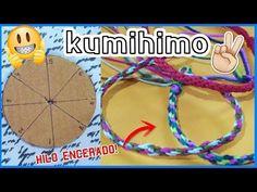 Como hacer una pulsera con la técnica Kumihimo /DIY disco de cartón - YouTube Yarn Crafts, Diy And Crafts, Crafts For Kids, Snake Knot Paracord, Paper Flowers Diy, Macrame Bracelets, Bracelet Tutorial, Toddler Crafts, Free Crochet