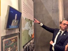 Italian Foreign Minister Mr. Angelino Alfano takes a tour through the Yad Vashem Holocaust History Museum.